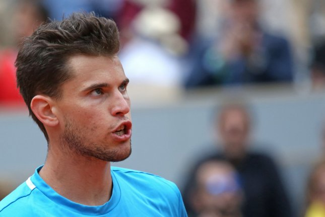 Dominic Thiem of Austria will join Patrick Mouratoglou's Ultimate Tennis Showdown tournament, which starts Saturday in France. File Photo by David Silpa/UPI