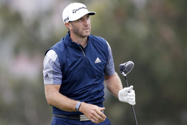 World No. 1 Dustin Johnson led the Tour Championship through all four days of the tournament from Friday through Monday at East Lake Golf Club in Atlanta. File Photo by John Angelillo/UPI