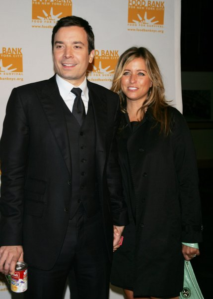 Jimmy Fallon and wife arrive for the Food Bank for New York City's Sixth Annual Can-Do Awards Dinner honoring Jon Bon Jovi at Pier Sixty at Chelsea Piers in New York on April 21, 2009. (UPI Photo/Laura Cavanaugh)