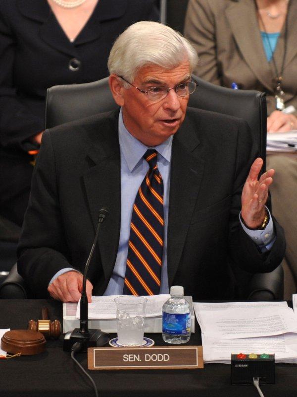 Sen. Chris Dodd (D-CT) (UPI Photo/Kevin Dietsch)