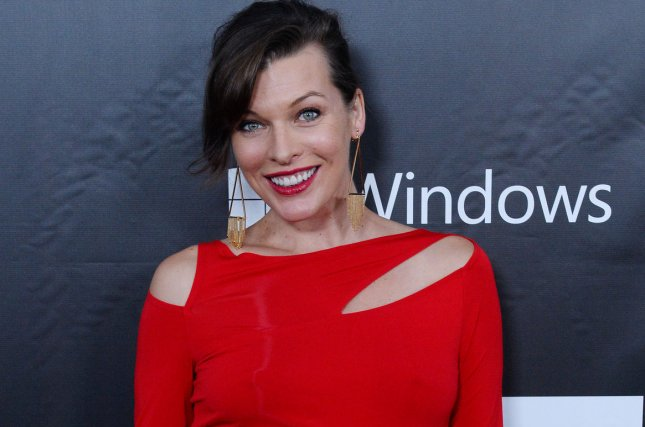 Actress Milla Jovovich attends the amfAR Inspiration Gala honoring Tom Ford at Milk Studios on Oct. 29, 2014 in Los Angeles. Photo by Jim Ruymen/UPI