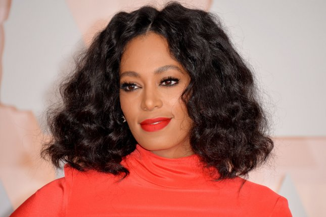 Solange Knowles arrives on the red carpet at the 87th Academy Awards at the Hollywood & Highland Center in Los Angeles on February 22, 2015. The celebrity lost her diamond wedding ring after walking in a Mardi Gras parade and is giving away a reward to the person who finds it and returns it safely. File Photo by Kevin Dietsch/UPI