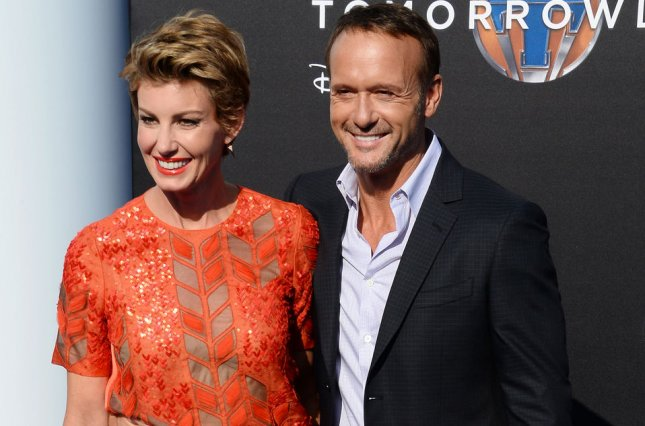 Faith Hill (L) and Tim McGraw at the Disneyland premiere of Tomorrowland on May 9, 2015. The couple share three daughters. File Photo by Jim Ruymen/UPI