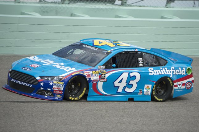 Racer Aric Almirola conducts a practice session at the Homestead-Miami Speedway. File photo by Joe Marino-Bill Cantrell/UPI