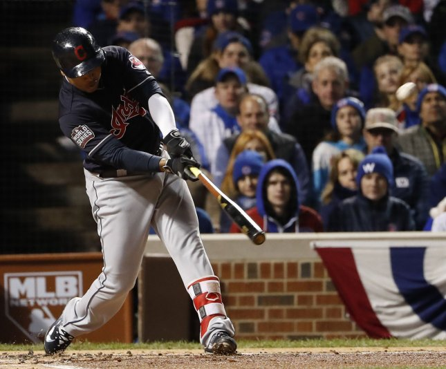 Jose Ramirez and the Cleveland Indians fought past the Seattle Mariners on Saturday. Photo by Kamil Krzaczynski/UPI