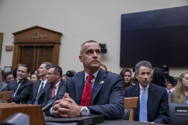 Corey Lewandowski, former campaign manager for the Donald Trump 2016 presidential campaign, arrives to testify during a House judiciary committee hearing on presidential obstruction of justice and abuse of power on Capitol Hill Tuesday.    Photo by Tasos Katopodis/UPI
