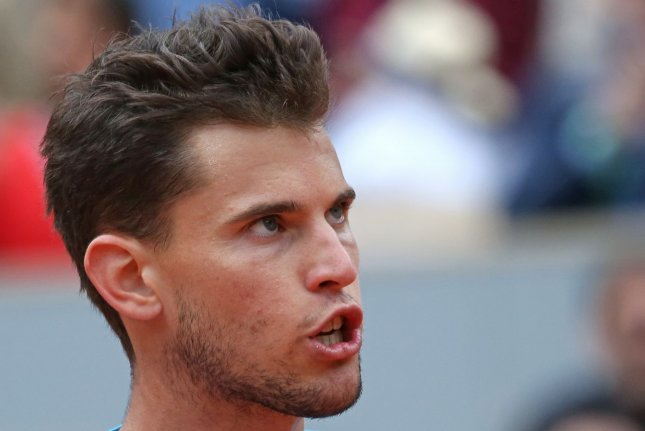 Dominic Thiem of Austria (pictured) beat Alex de Minaur 6-1, 6-2, 6-4 in a 2020 U.S. Open quarterfinal match Wednesday in Queens, N.Y. File Photo by David Silpa/UPI