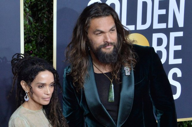 Jason Momoa (R) and his wife Lisa Bonet attend the 77th annual Golden Globe Awards in January 2020. Momoa surprised Dwayne Johnson's daughter Tiana Gia on her third birthday. File Photo by Jim Ruymen/UPI