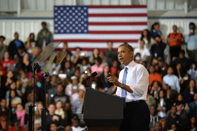 Healthcare insurance surges as deadline nears. President Barack Obama delivers remarks on the Affordable Care Act at Prince Georges Community College. UPI/Kevin Dietsch
