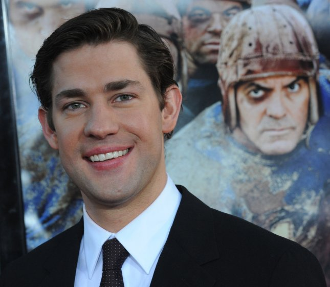 Actor John Krasinski, a cast member in the motion picture sport comedy Leatherheads attends the premiere of the film at Grauman's Chinese Theatre in the Hollywood section of Los Angeles on March 31, 2008. (UPI Photo/Jim Ruymen)