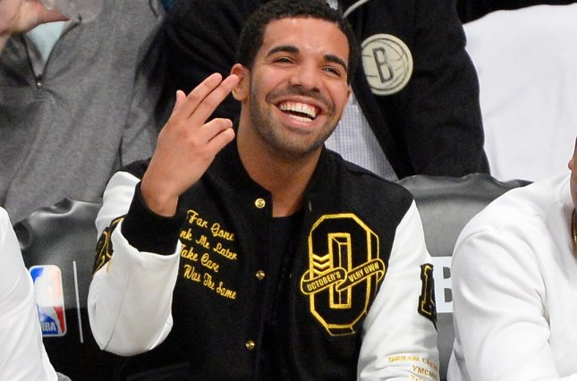 A Tom Ford lipstick named after Drake, seen here at the Eastern Conference Quarterfinals in 2014, sold out online instantly. File Photo by Rich Kane/UPI