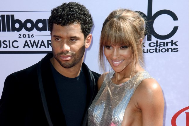 Singer and host Ciara (R) and Russell Wilson attend the annual Billboard Music Awards on May 22, 2016. The couple have officially married. File Photo by Jim Ruymen/UPI