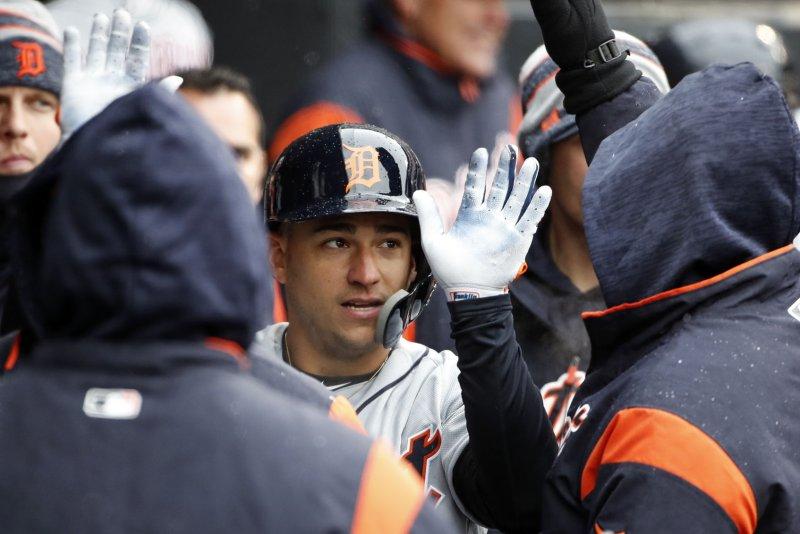 Detroit Tigers shortstop Jose Iglesias. Photo by Kamil Krzaczynski/UPI
