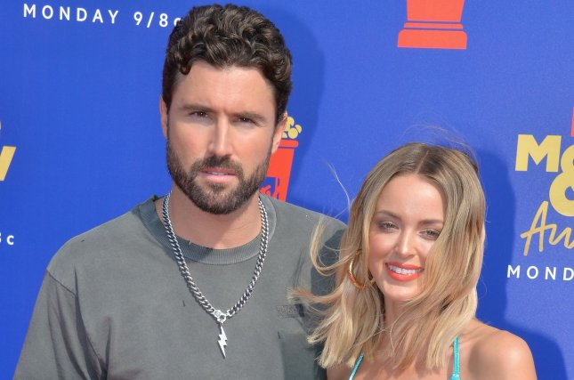 Brody Jenner (R), pictured with Kaitlynn Jenner, discussed his relationship with his dad, Caitlyn Jenner, during Monday's episode of The Hills: New Beginnings. File Photo by Jim Ruymen/UPI