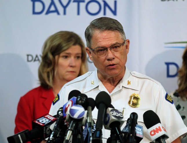 Autopsies showed that the gunman who killed nine people in a shooting in Dayton,Ohio on Aug. 5 had drugs in his system at the time of the shooting and that two victims were struck by police gunfire. Photo by John Sommers II/UPI