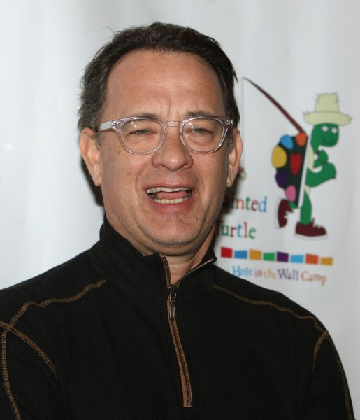 Tom Hanks arrives to participate in a staged reading of The World of Nick Adams, a performance to benefit Paul Newman's Hole in the Wall California Camp, The Painted Turtle, at Davies Symphony Hall in San Francisco on October 27, 2008. (UPI Photo/Terry Schmitt)