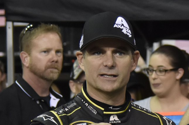 NASCAR Nationwide Series Championship racer Jeff Gordon (24) stands at his car before the start of qualifying for the Ford EcoBoost 400 at the Homestead-Miami Speedway in Homestead, Florida on November 20, 2015. Photo By Gary I Rothstein/UPI