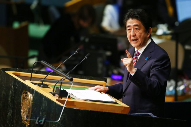 Japanese Prime Minister Shinzo Abe has been promoting the need for more women in the workforce, but many in his Liberal Democratic Party support the surname law. File lPhoto by Monika Graff/UPI
