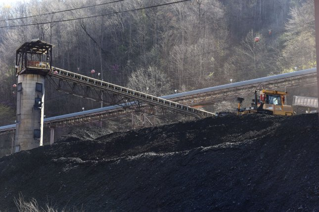 An end loader works on coal at an United Mine Workers mine in Pond Fork, W. Va., in 2016. File Photo by Debbie Hill/UPI