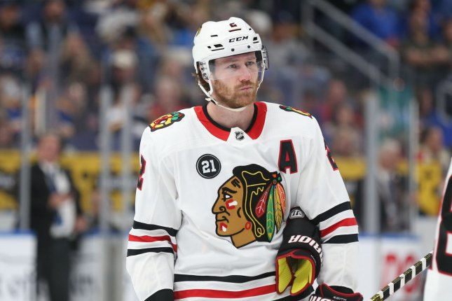 Chicago Blackhawks defenseman Duncan Keith, shown Oct. 27, 2018, waived his no-movement clause to facilitate the trade agreement. File Photo by Bill Greenblatt/UPI