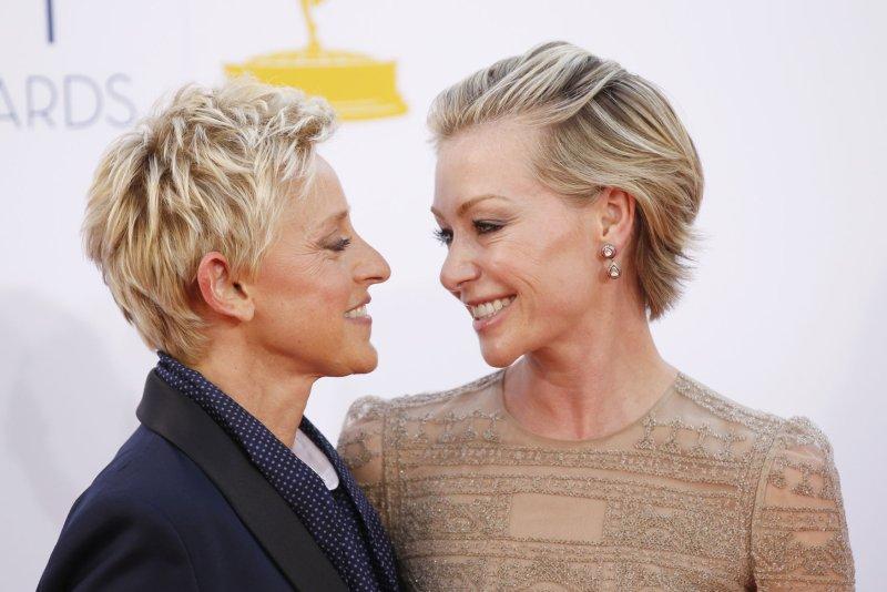 Portia De Rossi Ellen Degeneres Go Makeup Free For 10
