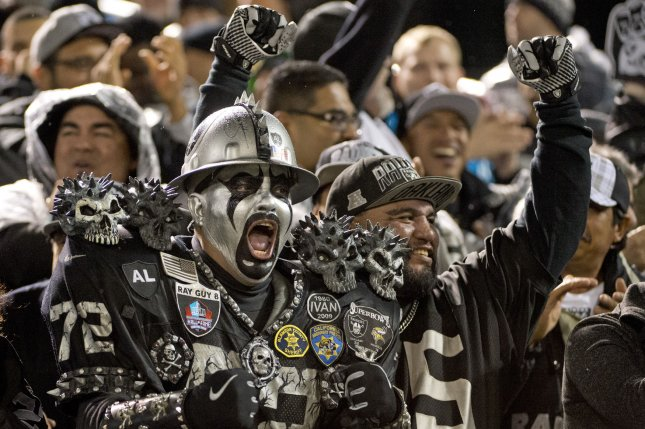 The Oakland Raiders clash with the Kansas City Chiefs in an AFC West game this Sunday. File photo by Terry Schmitt/UPI