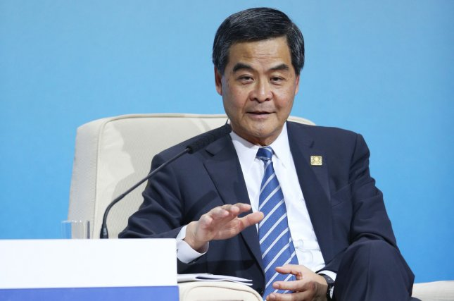 Leung Chun-ying, chief executive of Hong Kong, announced Friday he will not seek re-election to the position, citing an interest in spending more time with his family. File Photo by Jin Lawang/Pool/UPI