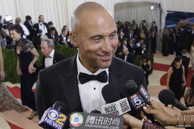 Derek Jeter arrives on the red carpet at the Costume Institute Benefit at The Metropolitan Museum of Art celebrating the opening of Manus x Machina: Fashion in an Age of Technology on May 2 in New York City. Photo by John Angelillo/UPI