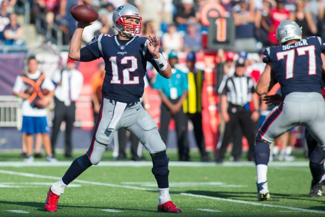 Tom Brady and the New England Patriots fought off the Tampa Bay Buccaneers. Photo by Matthew Healey/ UPI