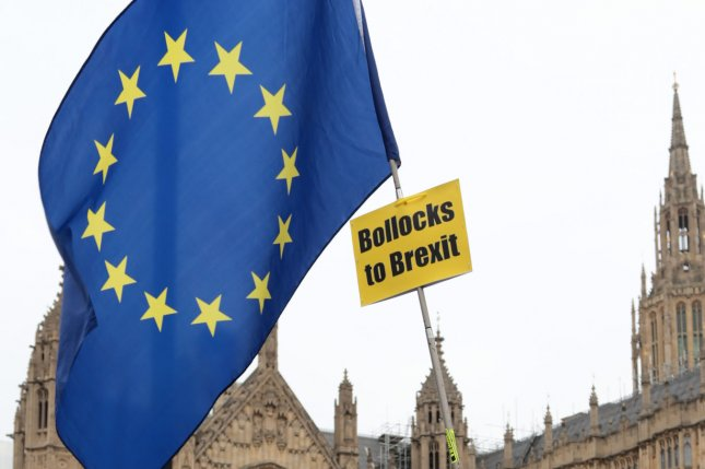 Protesters rally outside the Houses of Parliament in London, Great Britain. File Photo by Hugo Philpott/UPI