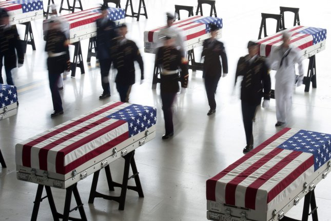 The Defense POW/MIA Accounting Agency said the remains of 36 soldiers have been accounted for during a yearlong remains recovery process from Oct. 1, 2019, to Sept. 30. File Photo by Staff Sgt. Mikaley Kline/U.S. Air Force/UPI