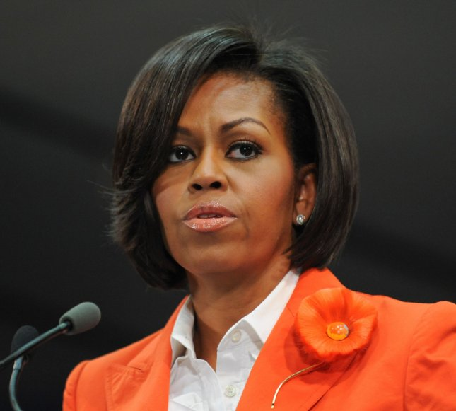 First lady Michelle Obama speaks at an event in Washington June 11, 2010. UPI/Alexis C. Glenn
