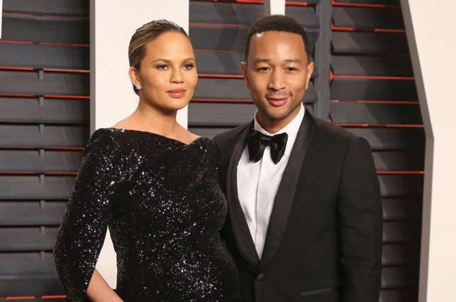 Chrissy Teigen (L) and John Legend at the Vanity Fair Oscar party on February 28. The couple welcomed daughter Luna in April. File Photo by David Silpa/UPI