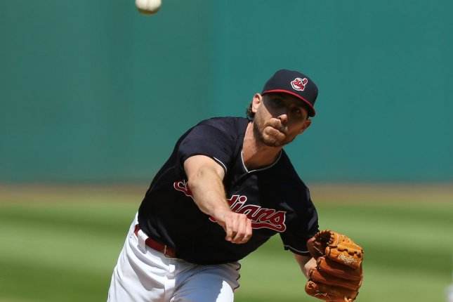 Cleveland Indians Josh Tomlin pitches in the second inning against the Baltimore Orioles at Progressive Field in Cleveland, Ohio on September 9, 2017. File photo by Aaron Josefczyk/UPI