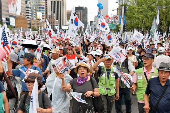South Korean conservatives have voiced their opposition to the policies of President Moon Jae-in. File Photo by Keizo Mori/UPI