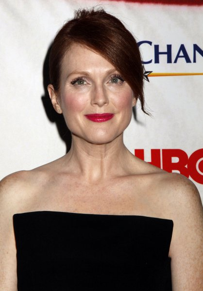 Julianne Moore arrives for the Game Change premiere at the Ziegfeld Theatre in New York on March 7, 2012. UPI /Laura Cavanaugh