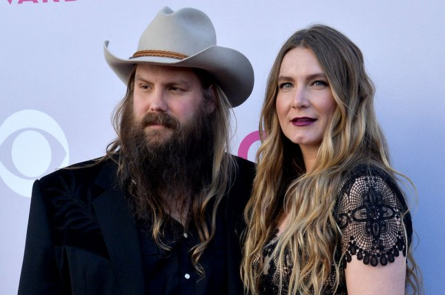 Morgane Stapleton (R), pictured here with Chris Stapleton, announced her pregnancy in an Instagram post Monday. File Photo by Jim Ruymen/UPI