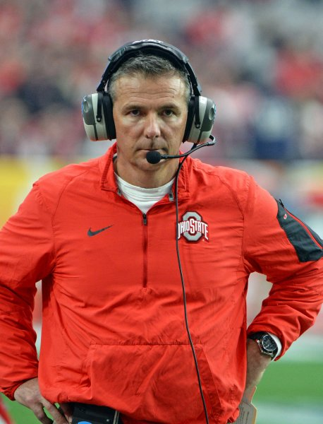 Urban Meyer and his Ohio State Buckeyes rallied past the rival Michigan Wolverines on Saturday. Photo by Art Foxall/UPI