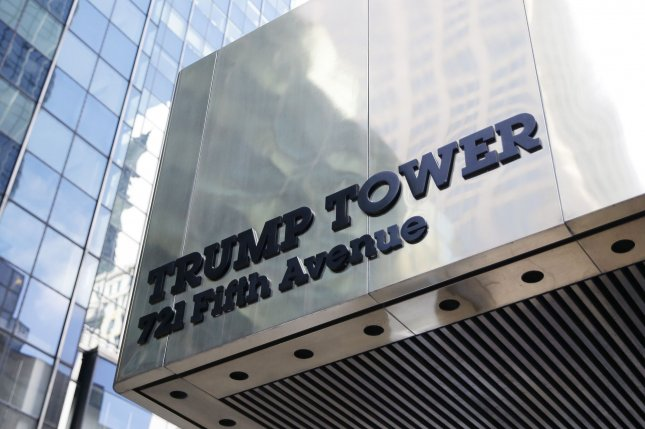 An entrance to Trump Tower is seen near Fifth Avenue in New York City on March 7. File Photo by John Angelillo/UPI