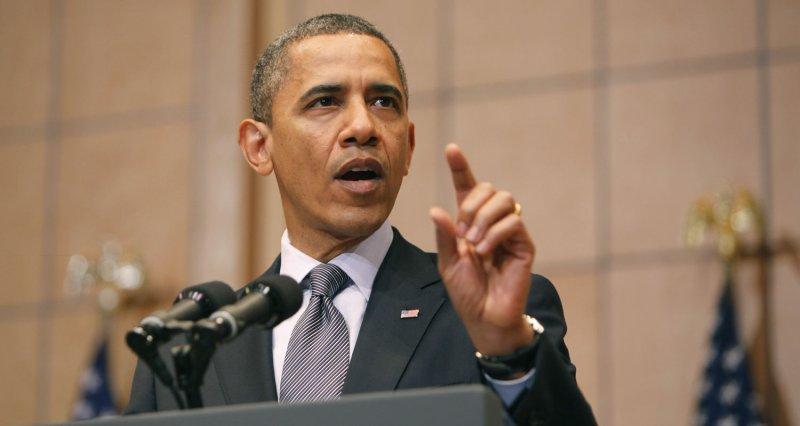 President Barack Obama at the Holocaust Museum in Washington April 23, 2012. UPI/Dennis Brack/Pool