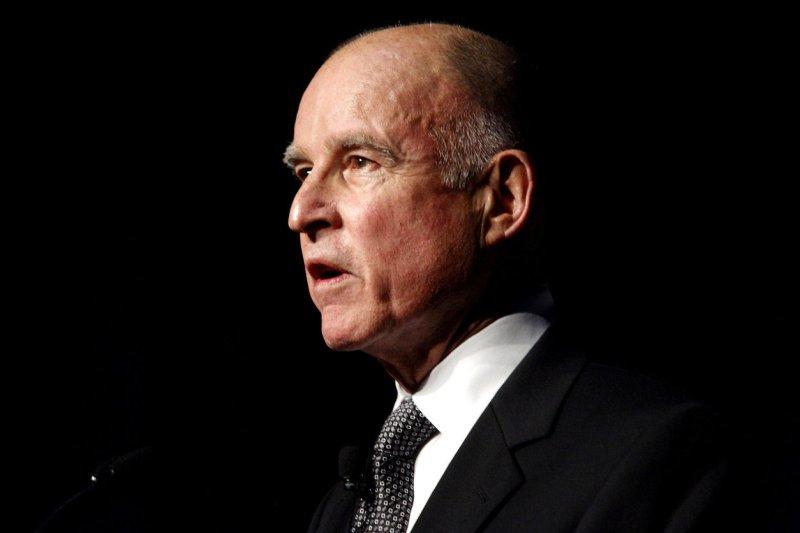 California Governor Jerry Brown. UPI/Ken James