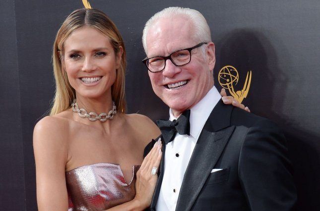 Heidi Klum (L) and Tim Gunn will develop, produce and star in a new fashion reality show. File Photo by Jim Ruymen/UPI