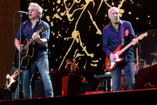 Roger Daltrey (L) and Pete Townshend of The Who. The band will be going on tour again in the summer and fall. File Photo by Jim Ruymen/UPI