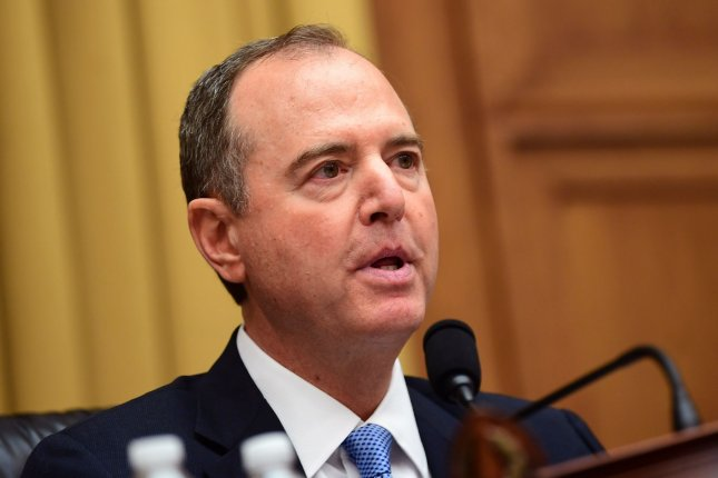 House Intelligence Committee Chairman Rep. Adam Schiff said Sunday the whistle-blower who filed a complaint about President Donald Trump's phone call with Ukraine's president will testify before Congress. File Photo by Kevin Dietsch/UPI