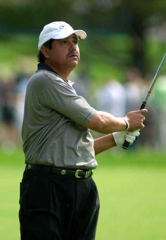 Eduardo Romero, shown jUNE 14, 2003, at the U.S. Open. (UPI Photo/ Mark Cowan)