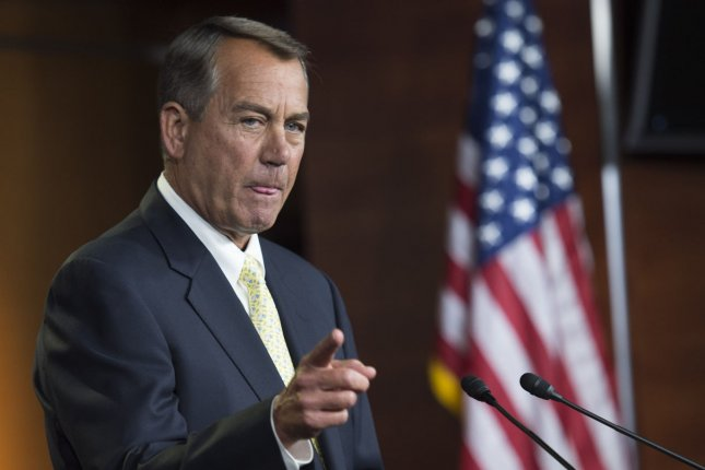 Speaker of the House John Boehner (R-OH) speaks during a press conference on Capitol Hill in Washington, D.C. on June 19, 2014. UPI/Kevin Dietsch