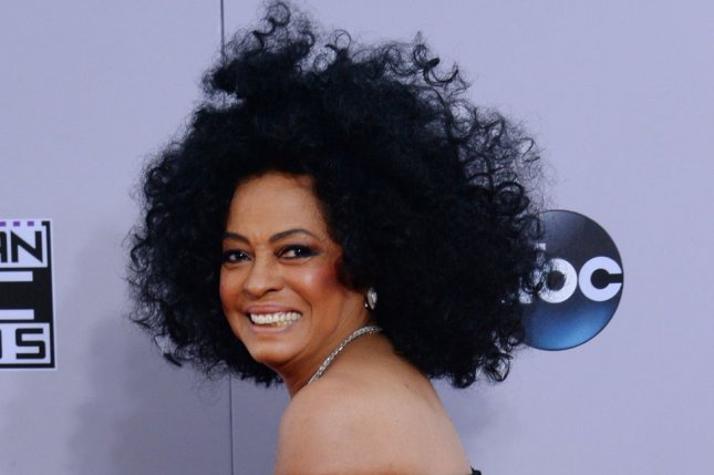 Singer Diana Ross arrives for the 42nd annual American Music Awards held at Nokia Theatre L.A. Live in Los Angeles on Nov. 23, 2014. Photo by Jim Ruymen/UPI