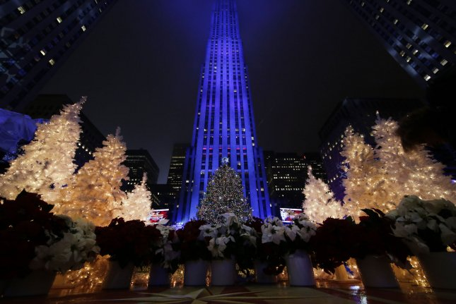 The 2015 Christmas tree is lit in Rockefeller Center at the annual Christmas  tree lighting ceremony in New York City on December 2, 2015. - This Year's Rockefeller Center Christmas Tree Revealed - UPI.com