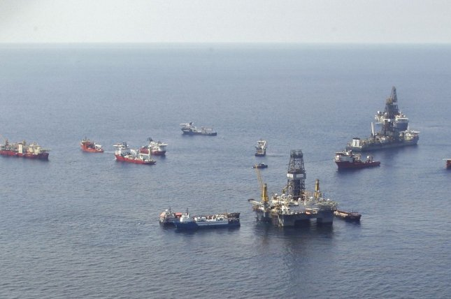 Exploration and production activity in the Gulf of Mexico appears to show some life despite the relative weakness in crude oil prices, analysis finds. File photo by A.J. Sisco/UPI.