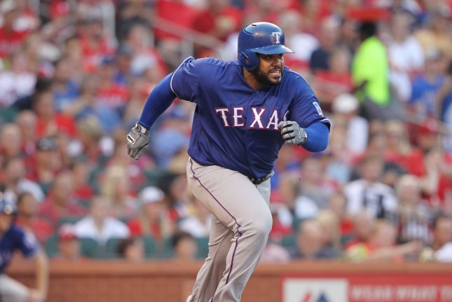 Former All-Star first baseman Prince Fielder frequently chronicles the life of his pet pig, Bacon, on Instagram. He posted a Throwback Thursday post of his pet on Thursday. File photo by Bill Greenblatt/UPI
